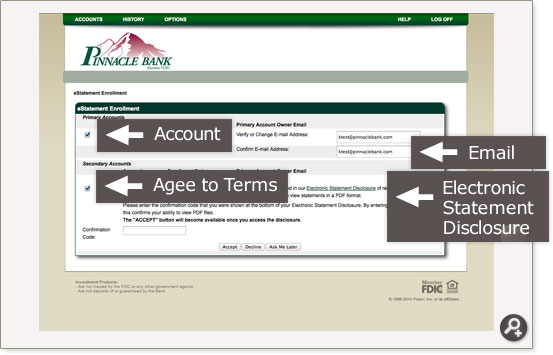 pinnacle bank online